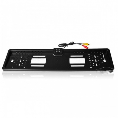 Waterproof European License Plate Frame with Car Rear View Camera