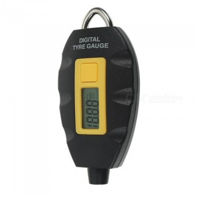 90SMART NT-WF-152 Mini Wheel Tyre Air Pressure Gauge Tester - Yellow