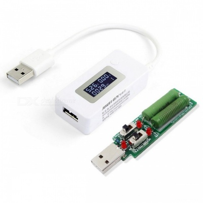 Digital Display USB Current Voltage Tester + Discharge Resistance Load