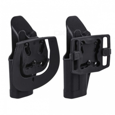 Quick Tactical Holster Right Hand Paddle, Belt Holster for Glock 17/2