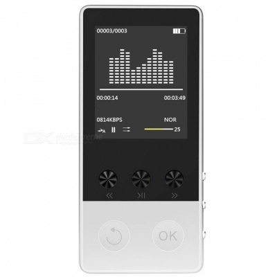 "HIFI Bluetooth MP3 Player 1.8"" TFT Screen Music Player - Silver (8GB)"
