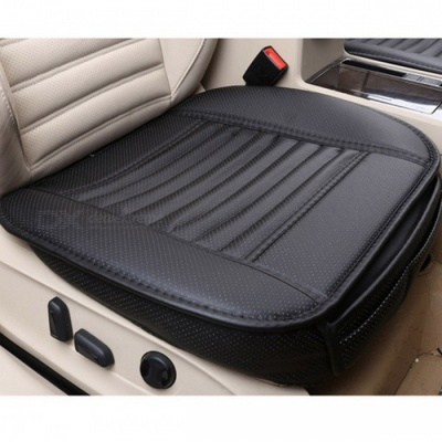Four Seasons Stylish Universal PU Car Seat Cushion - Black/Full
