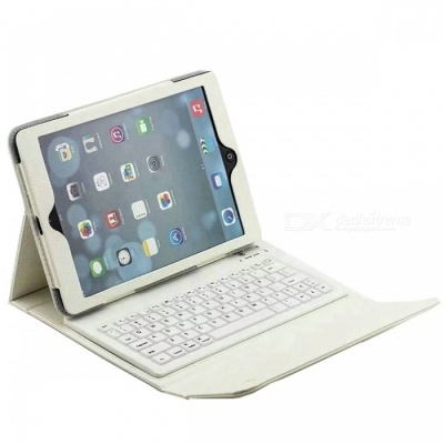 "Bluetooth Keyboard PU Case for IPAD Air, Air 2, PRO 9.7"" - White"