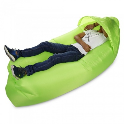 Multi-Function Outdoor Inflatable Sofa with Sun Shade - Green
