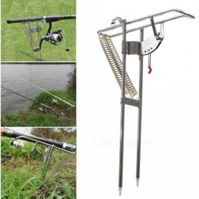 Double Spring Fishing Stand Bracket Rod Pole