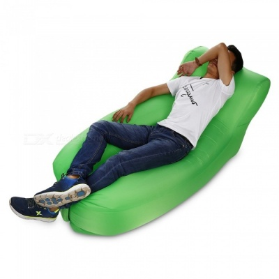 New Detachable Folding 210T Material Lazy Inflatable Chair - Green