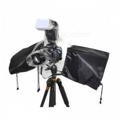 Waterproof Rain Cover for SLR Camera - Black, Transparent