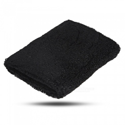 Multi-Function Cotton Absorbent Sweat Wrist Strap - Black