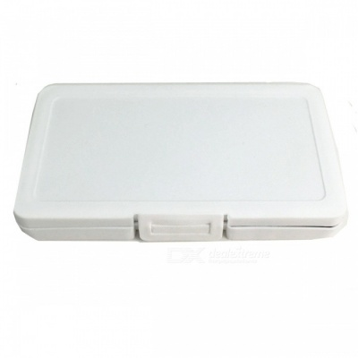 SD TD Memory Card ABS Storage Box with 6 Card Slots - White