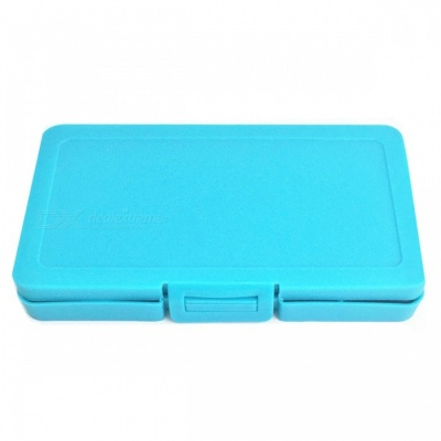 SD TD Memory Card ABS Storage Box with 6 Card Slots - Blue