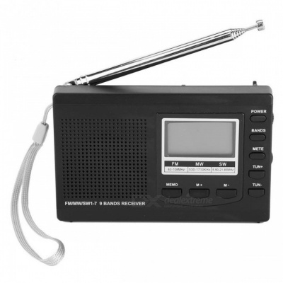 Radio DSP Emergency Mini Stereo FM Broadcasting Player - Black