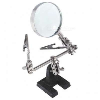 Helping Third Hand Tool Soldering Stand with 5X Magnifying Glass