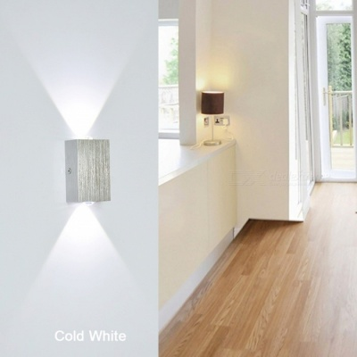 2W Aluminum LED Wall Lamp for Bedroom - Warm White