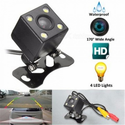 4-LED HD CCD Hanging Type Waterproof Car Rear View Camera