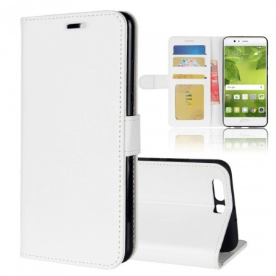 Protective PU Leather Case for HUAWEI  P10 plus - White