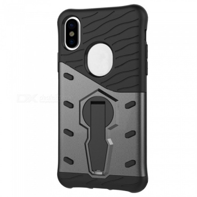 Adeline TPU Bumper PC Cover Kickstand Case for Apple IPHONE X