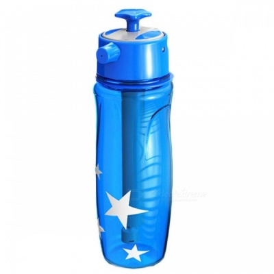 Fashion Creative Spray Water Bottle for Outdoor Sports - Blue