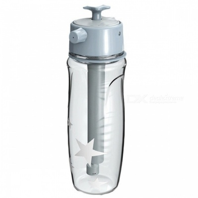 Fashion Creative Spray Water Bottle for Outdoor Sports - Grey
