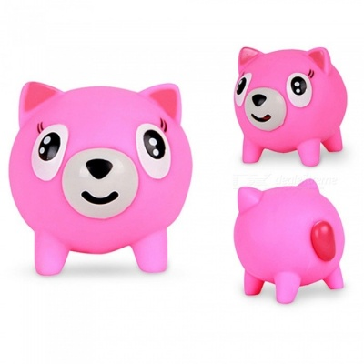Maikou Screaming Squishy Cartoon Animal Squeeze Rubber Toy - Deep Pink