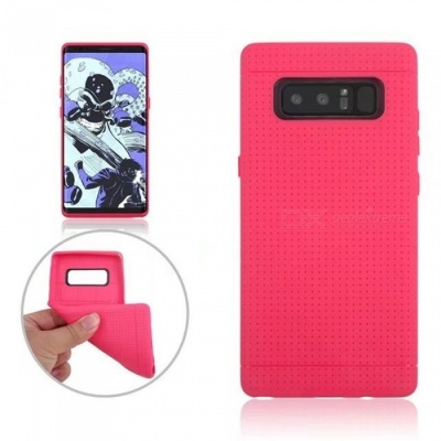 Mini Smile Protective TPU Case for Samsung Galaxy Note 8 - Deep Pink