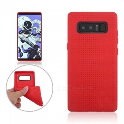 Mini Smile Protective TPU Back Case for Samsung Galaxy Note 8 - Red