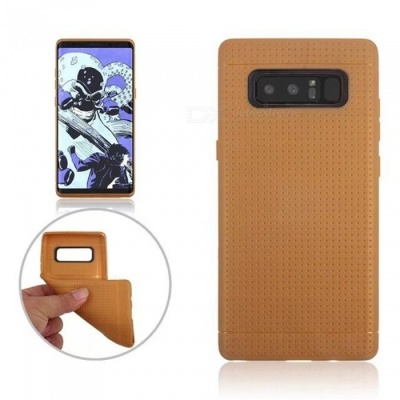 Mini Smile Protective TPU Back Case for Samsung Galaxy Note 8 - Brown