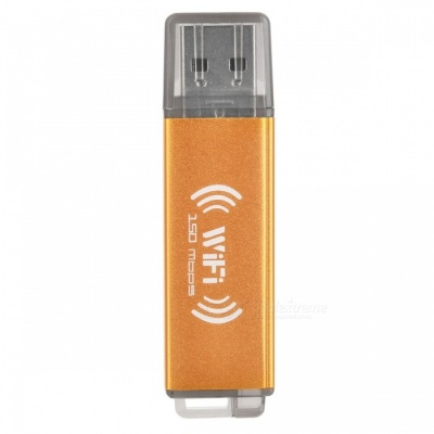 BSTUO USB 2.0 150Mbps Wi-Fi Wireless Network Card - Golden