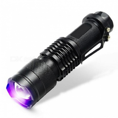 E-SMARTER SK68 LED XP-E Q5 Purple Light 100lm Zooming Flashlight