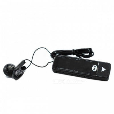 KELIMA N19 Mini 8GB Memory Voice Recorder - Black