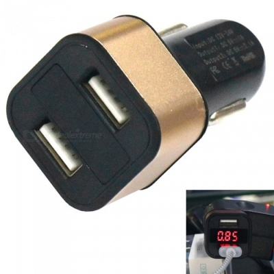 H-603 Car Charger Fast Charge 3.1A Dual USB w/ Digits Display