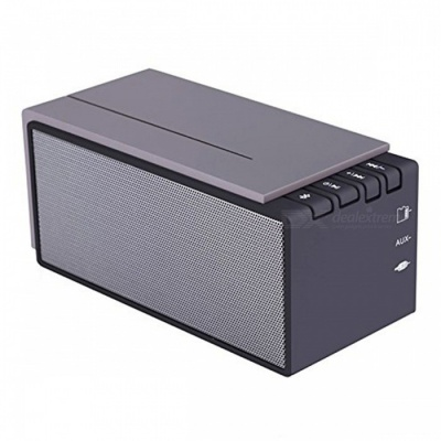 Bluetooth 4.0 Wireless Speaker with HD Audio Surround Sound - Grey