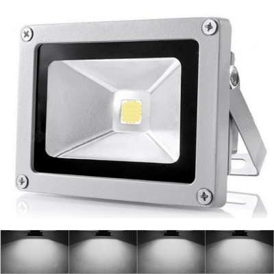 P-TOP 10W 900lm 6000K White Light Wired LED Floodlight - Grey