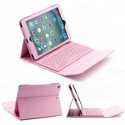 "Bluetooth Keyboard PU Case for IPAD Air, Air 2, PRO 9.7"" - Pink"