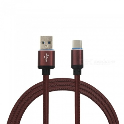 Mini Smile 3.4A Leather Type-C Charging Data Cable for GoPro Hero 5