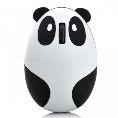 MAIKOU Cartoon Panda 1200DPI 2.4GHz Wireless Mouse - White
