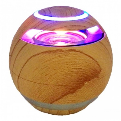 Wooden Round Magic Ball Hi-Fi Bluetooth Wireless Speaker