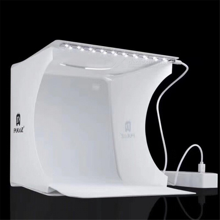 Folding Portable LED Mini Studio Photography Lamp Box - White