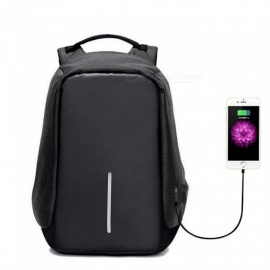 Multi-functional Travel Student Backpack with USB Charging Port -Black