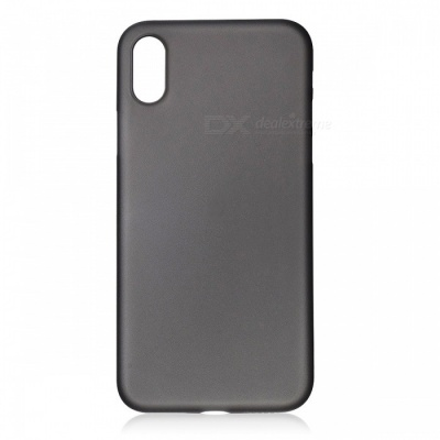 Protective Frosted TPU Back Case for IPHONE X - Translucent Black