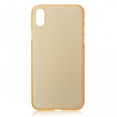 Protective Frosted TPU Back Case for IPHONE X - Translucent Golden
