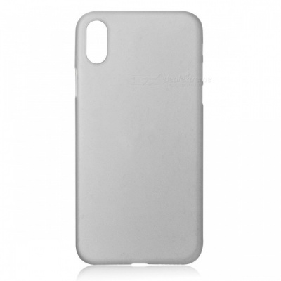 Protective Frosted TPU Back Case for IPHONE X - Translucent Grey