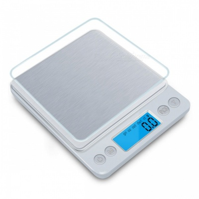 Mini Portable Pocket-Size Stainless Steel Kitchen Scale - Silver