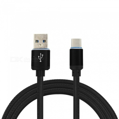 Mini Smile 3.4A Leather Type-C Charging Data Cable for Nintendo