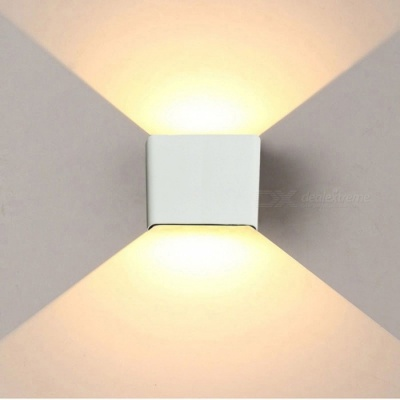 JIAWEN 6W Warm White LED Wall Lamp for Indoor, Outdoor - White