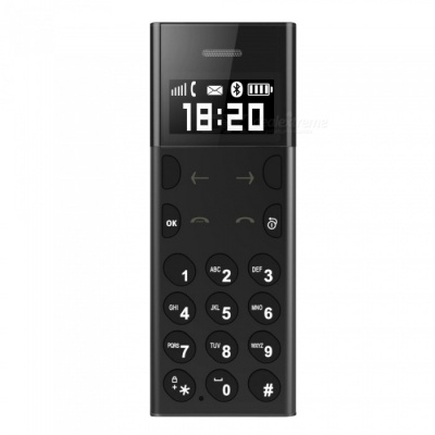 A5 Stylish Ultra-thin Card Mobile Phone - Black