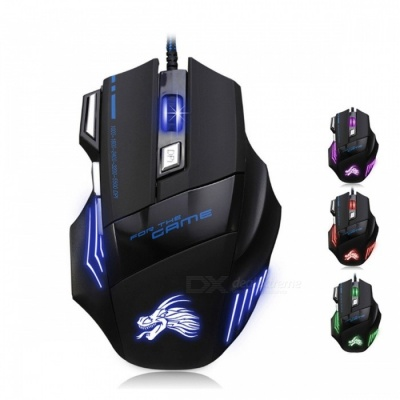 Professional 7-Button 5500 DPI LED Optical USB Wired Gaming Mouse