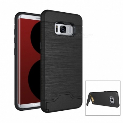 Mini Smile PC TPU Back Case with Card Slots for Samsung Galaxy S8