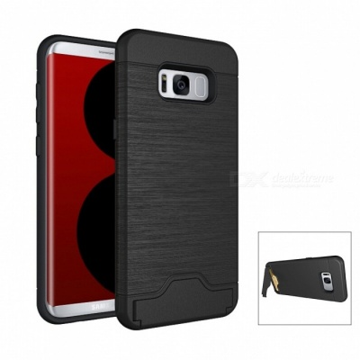 Mini Smile PC TPU Back Case with Card Slots for Samsung Galaxy S8 Plus