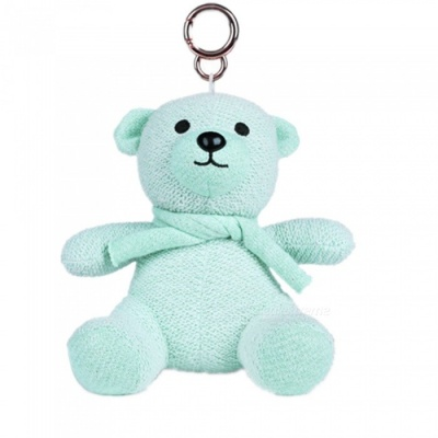 KELIMA Mini Cartoon Plush Bear Doll Bluetooth Speaker - Blue