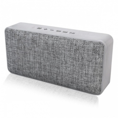 Waterproof Bluetooth Wireless Speaker with Fabric Design - Grey